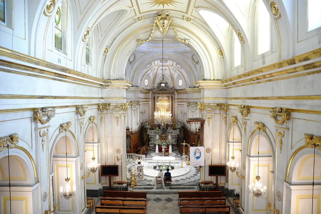 ポジターノの教会に決めて、本当によかった!!