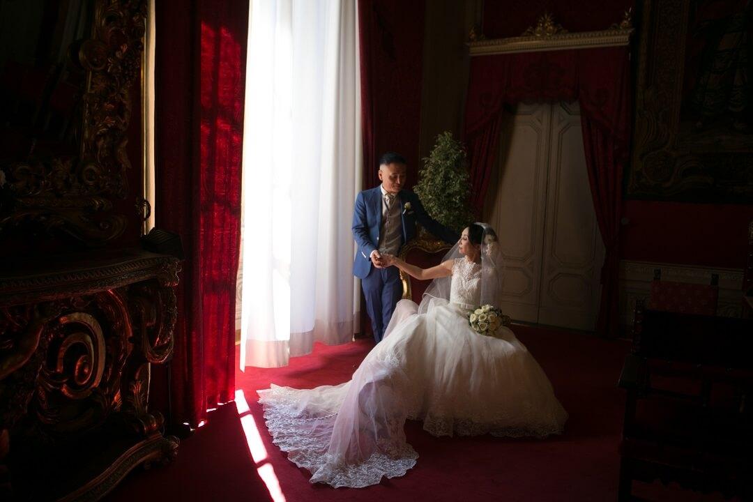 二人の希望が叶った! ヴェッキオ宮殿(イタリア)戸籍に残るリーガルウエディング