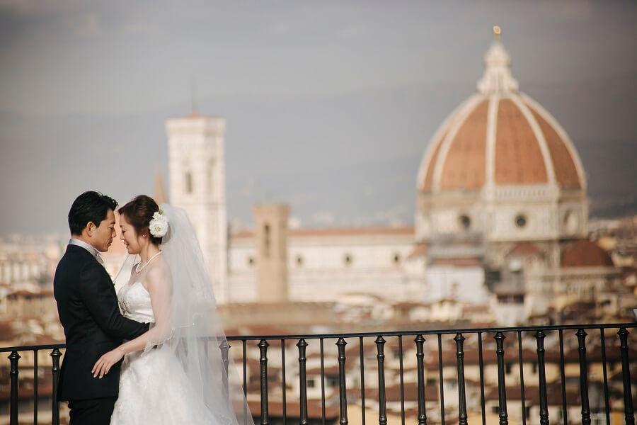 誰もが憧れる花嫁姿をフィレンツェで実現。結婚式の意義を胸に刻みました!
