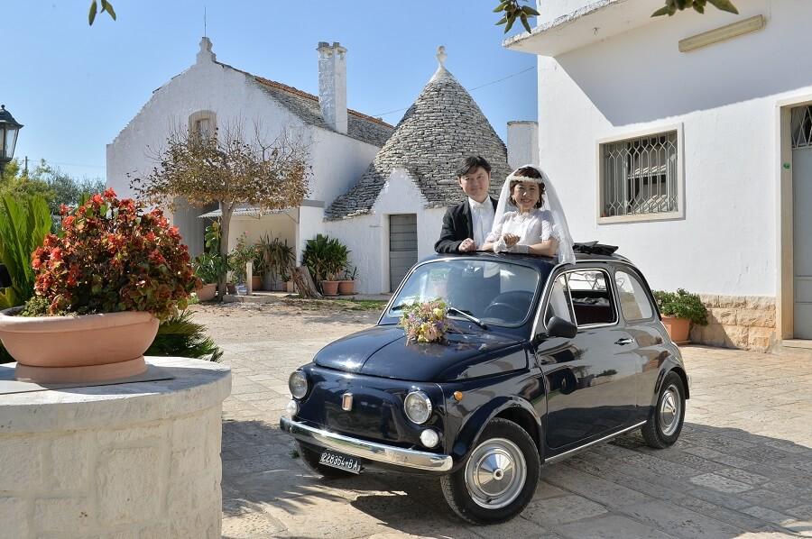 お伽の世界アルベロベッロ。人々の温かい真心を感じながらの結婚式!!