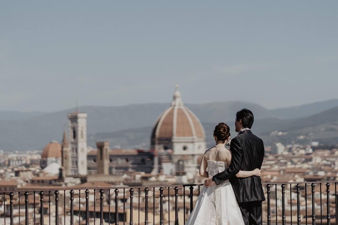感慨深いフィレンツェ挙式。国や言葉を越えた平和で優しいひと時。